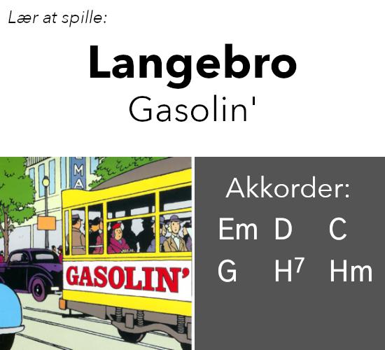 """""""Langebro"""" (Gasolin') akkorder på guitar"""