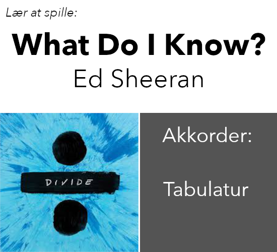 Videolektion – What Do I Know (Ed Sheeran)