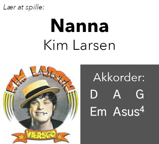 """Lær at spille Kim Larsens """"Nanna"""" på guitar"""