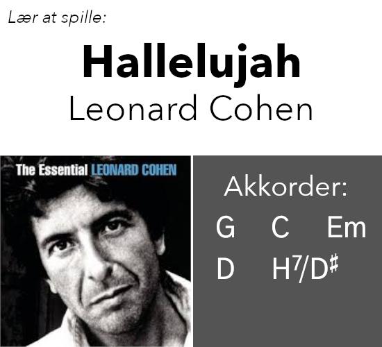 """Lær at spille """"Hallelujah"""" (Leonard Cohen) på guitar"""