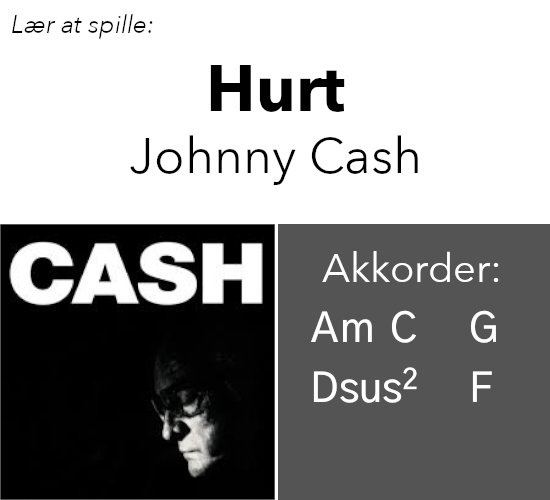 "Lær At Spille ""Hurt"" (Johnny Cash Version) På Guitar"