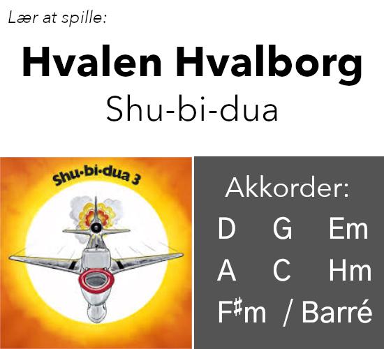 """Lær At Spille """"Hvalen Hvalborg"""" (Shu-Bi-Du-A) På Guitar"""