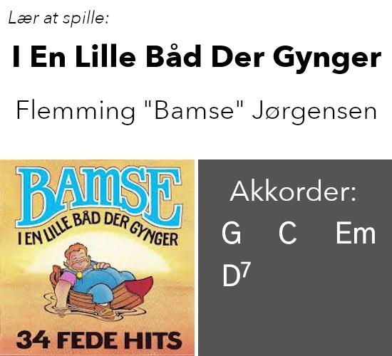 """Lær At Spille """"I En Lille Båd Der Gynger"""" (Bamse) På Guitar"""