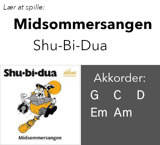 "Lær At Spille ""Midsommersangen"" (Shu-Bi-Dua) På Guitar"